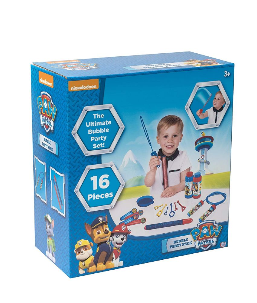 Blue Paw Patrol 16pc Bubble Party Playset Kids Children Xmas Gift
